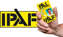 IPAF LOGO and pal card powerd access license